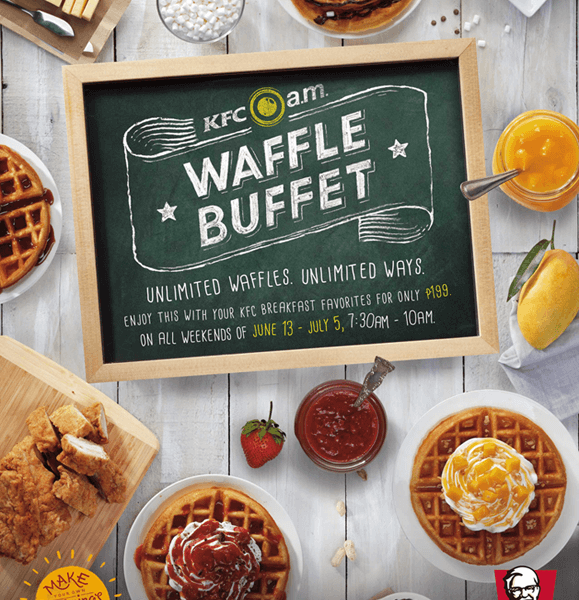 Brighten Your Mornings with The New KFC a.m. Waffle Buffet